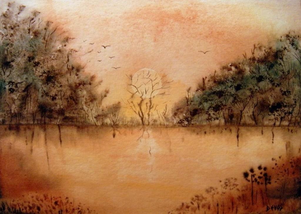 Songe d'été   dans aquarelle coucher-de-soleil-20x28-copier-1024x729