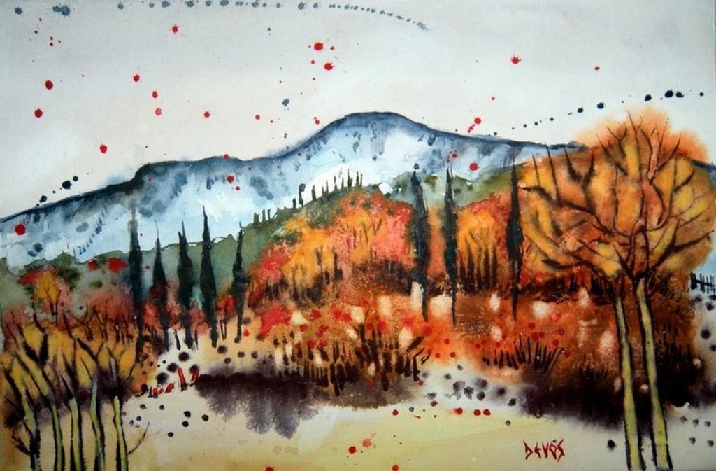 Balade dans les Alpilles   dans aquarelle 123-copier-1024x673