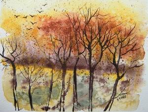 heureux soir d'automne18x14