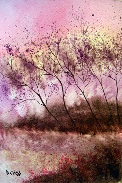 Aube printanière dans dendrite brume-hivernale21x14