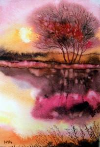 crépuscule rose21x14
