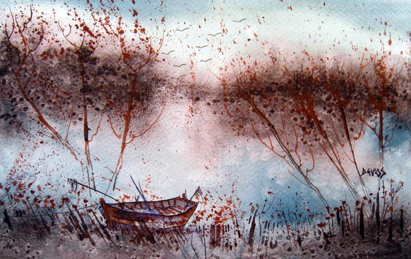 Camargue sauvage dans aquarelle camargue-sauvage-26x16